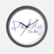 Daddy To Be (Blue Script) Wall Clock
