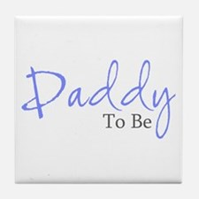 Daddy To Be (Blue Script) Tile Coaster