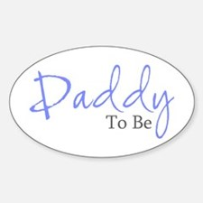 Daddy To Be (Blue Script) Oval Decal