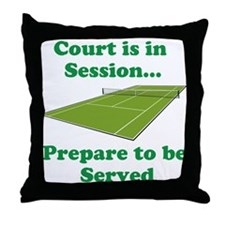 Court is in Session... Throw Pillow