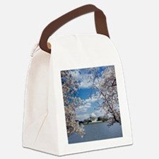 Jefferson Memorial with Cherry Bl Canvas Lunch Bag