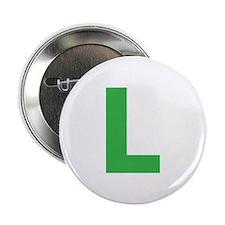 "Letter L Green 2.25"" Button"