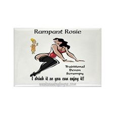 Rampant Rosie Scrumpy Rectangle Magnet