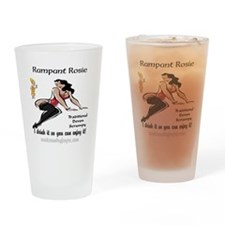 rampant rosie scrumpy Drinking Glass