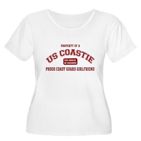 Property of a US Coastie: Coa Women's Plus Size Sc