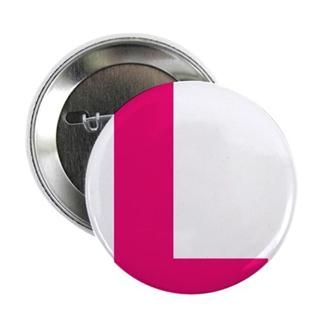 """Letter L Pink 2.25"""" Button (100 pack)"""