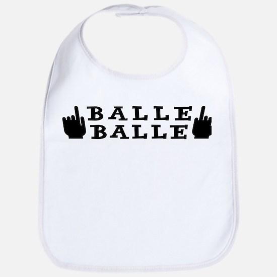balle_balle_black Baby Bib
