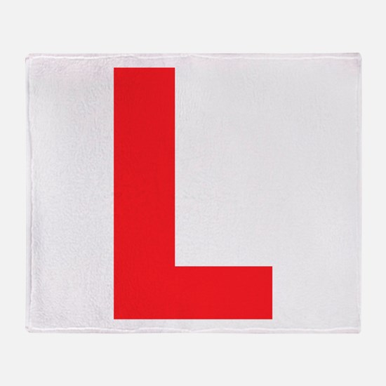Letter L Red Throw Blanket