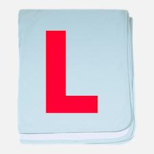 Letter L Red baby blanket