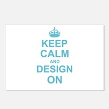 Keep Calm and Design on Postcards (Package of 8)