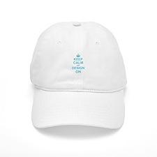 Keep Calm and Design on Baseball Baseball Cap