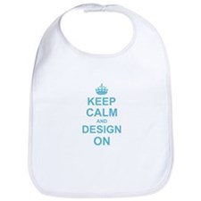 Keep Calm and Design on Bib