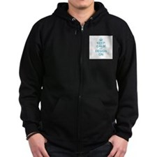 Keep Calm and Design on Zip Hoody