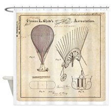 Aerostation Patent Shower Curtain