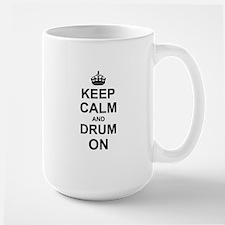Keep Calm and Drum on Mugs