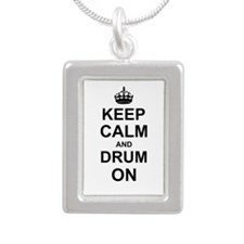 Keep Calm and Drum on Necklaces
