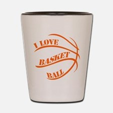 i love basketball Shot Glass