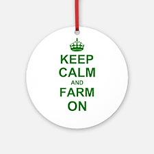Keep calm and Farm on Ornament (Round)