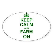 Keep calm and Farm on Decal