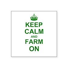 Keep calm and Farm on Sticker