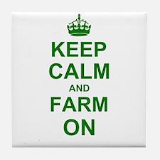 Keep calm and Farm on Tile Coaster