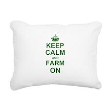 Keep calm and Farm on Rectangular Canvas Pillow