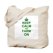 Keep calm and Farm on Tote Bag