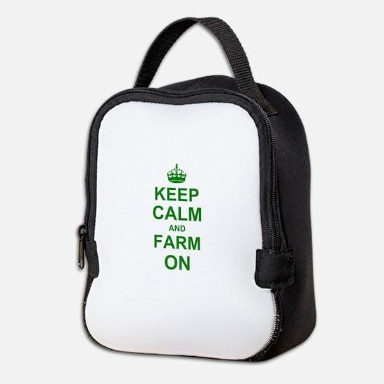 Keep calm and Farm on Neoprene Lunch Bag