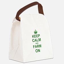 Keep calm and Farm on Canvas Lunch Bag