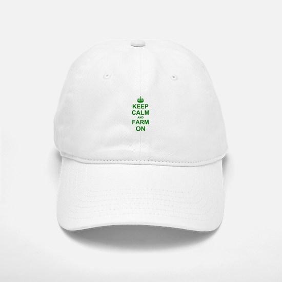 Keep calm and Farm on Baseball Baseball Cap