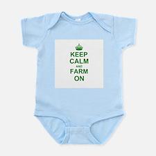 Keep calm and Farm on Body Suit