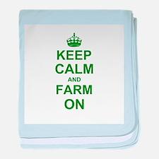 Keep calm and Farm on baby blanket