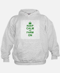 Keep calm and Farm on Hoody
