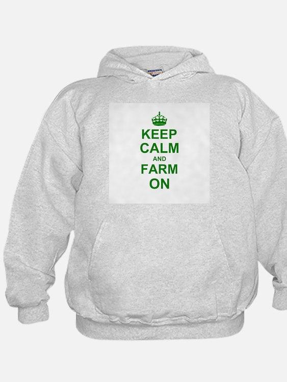 Keep calm and Farm on Hoody