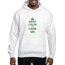 Keep calm and Farm on Jumper Hoody