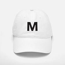 Letter M Black Baseball Baseball Baseball Cap