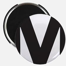 Letter M Black Magnets