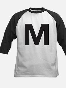 Letter M Black Baseball Jersey