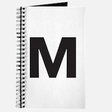 Letter M Black Journal