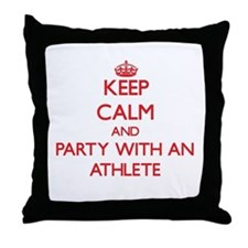 Keep Calm and Party With an Athlete Throw Pillow