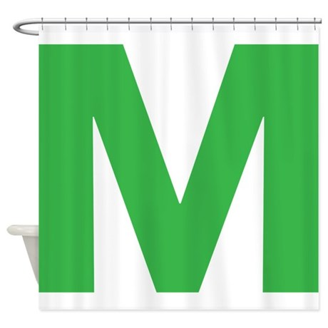 Letter M Green Shower Curtain by - 21.4KB