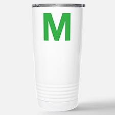 Letter M Green Travel Mug