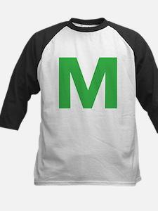 Letter M Green Baseball Jersey