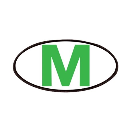 Letter M Green Patches
