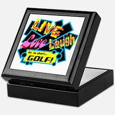 Live, Love, Laugh Golf Keepsake Box