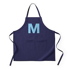 Letter M Light Blue Apron (dark)
