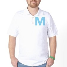 Letter M Light Blue T-Shirt