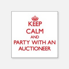 Keep Calm and Party With an Auctioneer Sticker