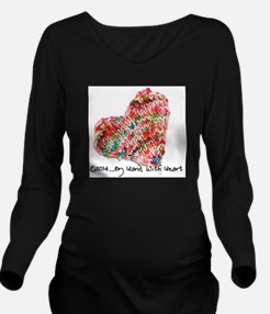 Cute Hand knitted Long Sleeve Maternity T-Shirt