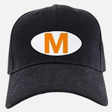 Letter M Orange Baseball Hat